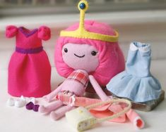 Muñecas de felpa de Adventure Time con ropita intercambiable