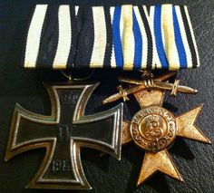 ✚6118✚ German Army Mounted Medal Group Iron Cross Bavarian Merit Cross Medal WW1 | eBay