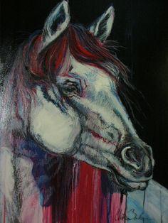 Mixed media acrylic, oil pastel on A2 Artboard.