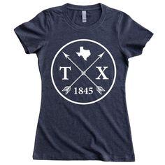 Homeland Tees Texas Arrow Women's T-Shirt by HomelandTees on Etsy