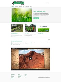Demaree Sod Farm website home page, which I created using Weebly. I redesigned their website.