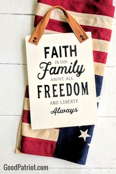 We love our country and all that makes it great! Faith, family and freedom is what we're about- how about you? Check out our family at www.GoodPatriot.com to find American home decor that encourages YOUR beliefs. #blackandwhite #americanflag #walldecor #patriotic