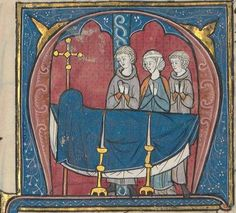 Veillée funèbre du roi Amauri, père de Baudouin IV.