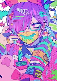 Anime B: I like this for the color placement Concept Inspiration for Art in 2019 Anime art, Pastel Kawaii Anime, Arte Do Kawaii, Kawaii Art, Aesthetic Art, Aesthetic Anime, Aesthetic Colors, Anime Kunst, Anime Art, Gothic Kunst