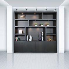 Cozy Apartment, Apartment Living, Diy Barn Door, Black Walls, Cabin Homes, Wall Shelves, Home And Living, Home Furniture, Living Room Decor