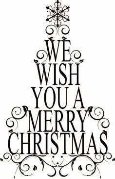 We wish a MERRY Christmas!