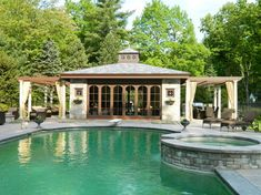 Pool Cabana Designs metal pool buildings designs rustic yet refined pool cabana and new pool Outdoor Kitchen Designs With Roofs Pool Cabana Kitchen Bath Designers
