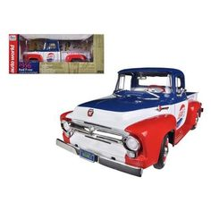 1956 Ford Pick-up Truck F-100 Pepsi Cola Limited to 1250 pc Worldwide 1/18 Diecast Model Car by Autoworld