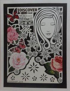 Drawing Papercut Collage / Let It Shine (roses) www.etsy.com/au/shop/lakasoart