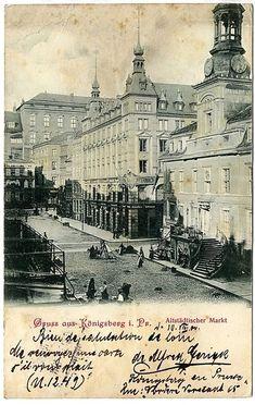 Königsberg Pr.  Alte Ansicht Altstädtischer Markt