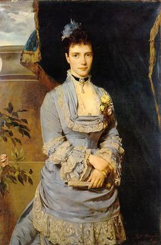 Heinrich von Angeli (1840-1925)      Portrait of  the Grand Duchesse Maria Fedorovna (Mother of Nicholas II). 1874
