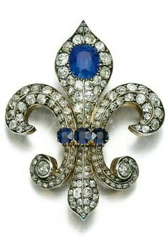 SAPPHIRE AND DIAMOND BROOCH, LATE 19TH CENTURY. | © 2015 Sotheby's