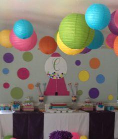 Bubble gum party for Carter