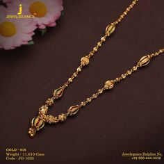 Gold 916 Premium Design Get in touch with us on Gold Chain Indian, Black Gold Chain, Gold Chain With Pendant, Gold Chains, Gold Necklace Simple, Gold Jewelry Simple, Gold Jewellery, Chain Jewelry, Baby Jewelry