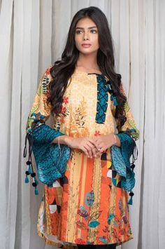 Latest Summer Printed Collection 2018 by Zeen Stylish Dress Designs, Stylish Dresses, Simple Dresses, Casual Dresses, Trendy Outfits, Summer Dresses, Pakistani Fashion Casual, Pakistani Dresses Casual, Pakistani Dress Design