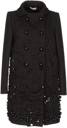 Are you enjoying your weekend? I hope this will brighten your day. I picked out a PRADA JEWELED COAT in BLACK for each of you - this stunning winter fashion piece will keep your heart and body warm all through the freezing winter months. Even if you live in a more temperate climate, slip this on for a night on the town or just wear it to the grocery store. The freezer section can get pretty nippy! You all will look so BREATHTAKING IN BLACK with this FASHION SERENDIPITY piece.