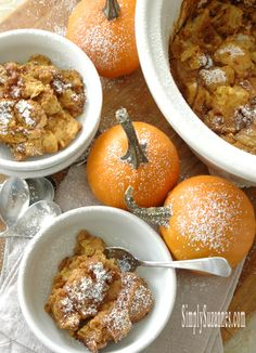 Simply Suzanne's AT HOME: slow-cooker pumpkin & caramel bread pudding