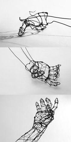 Broad City Coloring Book Beautiful Line Drawing by Yuichi Ikehata Wire Art Sculpture, Sculpture Projects, Wire Sculptures, Abstract Sculpture, Scrap Metal Art, A Level Art, Ap Art, Anatomy Art, Art Studios