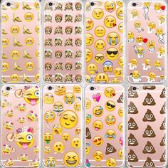 Fashion Lovely Funny Emoji Case For iphone 6 6s Silicone Cell Phone Cases Cover