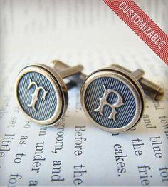 Custom Monogram Cufflinks – Brass  by The Weekend Store on Scoutmob Shoppe
