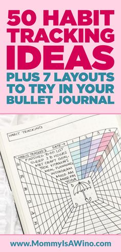 50 Habit Tracking Ideas Plus 7 Layouts To Try In Your Bullet Journal - Bullet Journal Layout Ideas