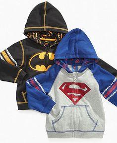 Warner Brothers Kids Jacket, Little Boys Superhero Hoodie - Kids Boys 2-7 - Macy's