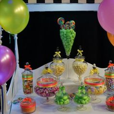 Neon Sweets supplied by Candy Buffet Creations.