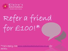 How would you like to earn up to £100 just for passing on our number?   Do you know a student teacher who is due to finish their course soon and is looking for help in finding a job or NQT placement?  Contact us with your friend's number and we will contact them. Don't forget to seek their permission first though!