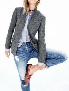 VISIT FOR MORE J Crew Rhodes herringbone blazer. This blazer looks wonderful. Love the collar construction and color The post J Crew Rhodes herringbone blazer. This blazer looks wonderful. Love the collar c appeared first on Jeans. Fashion Mode, Work Fashion, Fashion Trends, Trendy Fashion, Classy Fashion, Urban Fashion, Fashion News, Style Fashion, Fashion Online