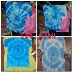DIY tye dye shirts (: