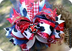 Cowgirl+OvertheTop+HAIR+BOW+with+customizable+by+customcutees,+$22.00