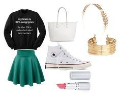 """""""Untitled #18"""" by briannasharee ❤ liked on Polyvore featuring Converse, Wet Seal, H&M and HoneyBee Gardens"""