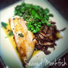 Fish Friday recipe for seared monkfish! Healthy Dinner Recipes, Great Recipes, Cooking Recipes, Healthy Dinners, Monkfish Recipes, Fish Friday, Fast Good, Advocare Recipes, Fish Dinner