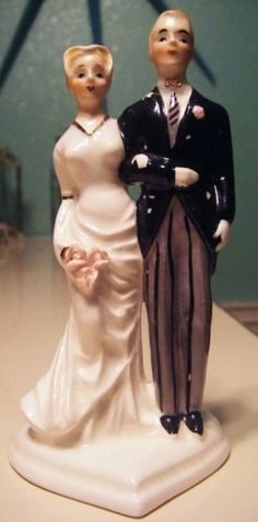 Vintage wedding cake topper.