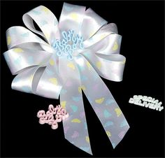 25 yards Baby feet ribbon 7/8 White with cute by RibbonMarket, $7.99