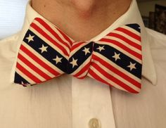 Handmade Stars and Stripes bowtie by toddsties on Etsy