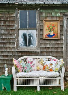 sweet assortment of vintage fabric pillows