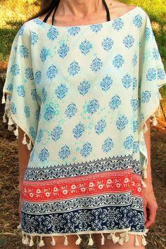 Poncho de verano 12,90€- CMK Floral Tops, Cover Up, Blouse, Beach, Dresses, Women, Fashion, Beach Outfits, Ponchos