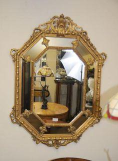French Louis XV Gilt Pier Mirror Glass Mirrors