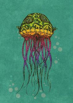 jellyfish tattoo idea