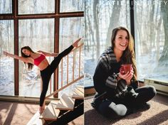 Winter Pilates and Yoga photo session in the Finger Lakes Region, photographed by Katie Finnerty Photography | www.katiefinnertyphotography.com/blog/2016.3.9.hannah