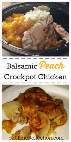 Clean Eating Balsamic Peach Crockpot Chicken - 21 Day Fix Approved http://sublimereflection.com