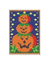 PUMPKIN PATCH PALS~PONY BEAD BANNER PATTERN ONLY