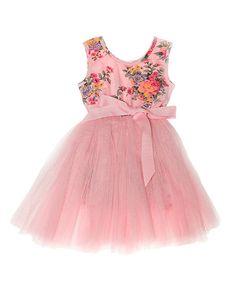 Pink Floral Tutu Dress - Toddler & Girls #zulily #zulilyfinds