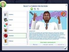 The Sims 4 Geneticist Career! Levels] by marlynsims - The Sims 4 The Sims 4 Pc, Sims 4 Teen, Sims 4 Toddler, Sims 4 Mm, My Sims, Sims Mods, Sims 4 Mods Clothes, Sims 4 Game Mods, Sims 4 Clothing