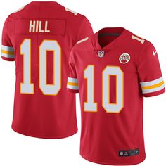 Mens Nike Kansas City Chiefs #10 Tyreek Hill Limited Red Color Color Rush NFL Jersey