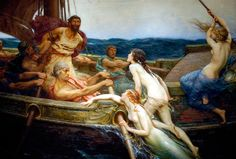 Ulysses and the Sirens by H.J. Draper - Siren (mythology) - Wikipedia, the free encyclopedia