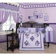 Baby Bedding 13-Piece Crib Bedding Sets with Bumper Included Baby Bundle,Butterflies