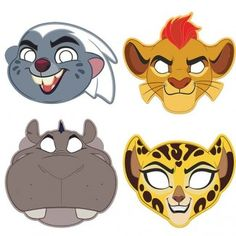 Lion Guard Party Supplies, Lion Guard Paper Masks, Party Favors