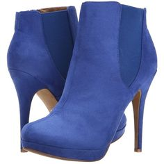 Michael Antonio Merdock - Suede (Cobalt) Women's Boots (€33) ❤ liked on Polyvore featuring shoes, boots, ankle booties, ankle boots, heels, blue, heeled booties, high heel ankle booties, platform bootie and suede ankle boots
